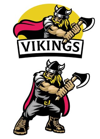 set of viking mascot character Banco de Imagens - 137056762
