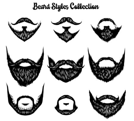 set of mustache collection