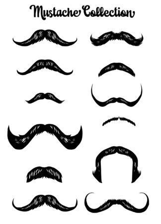 set bundle of mustache collection Stock fotó - 137056773