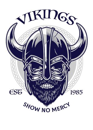t-shirt design of viking warrior