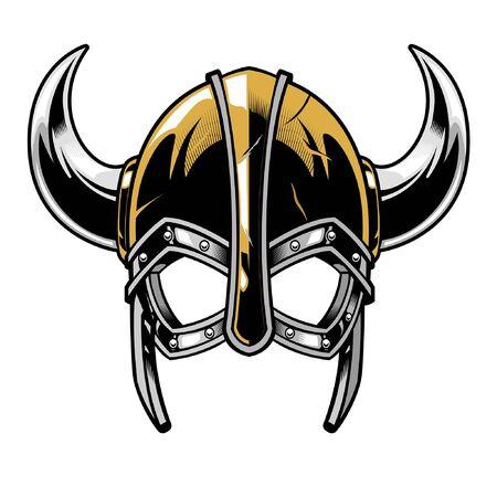 helmet of viking warrior Vector Illustration