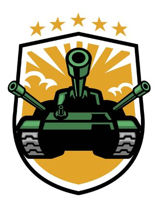 military tank badge design