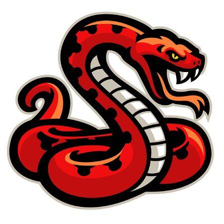 red snake mascot Ilustração