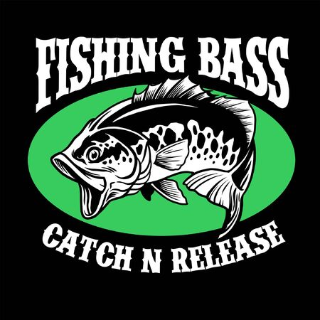 Fishing bass t-shirt design
