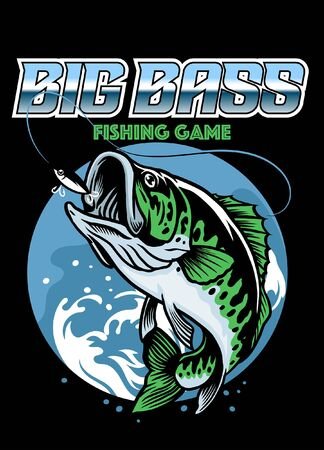 big bass fishing shirt design