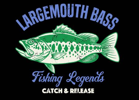 vintage style largemouth shirt design