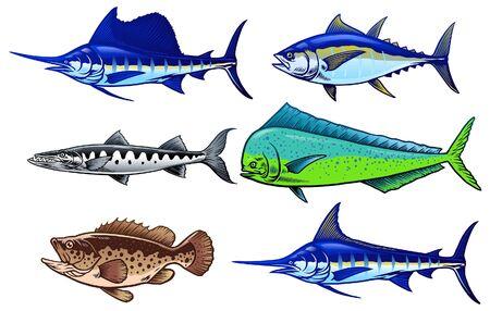 set of saltwater fishing game