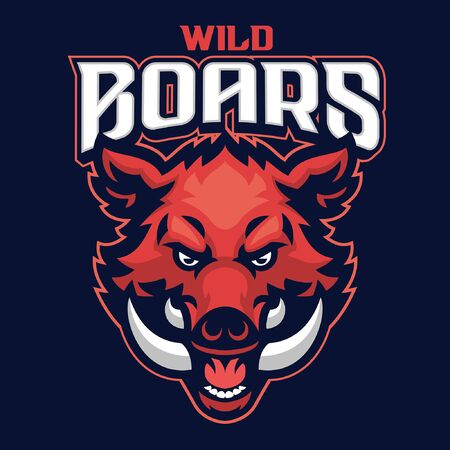 head of wild boar mascot