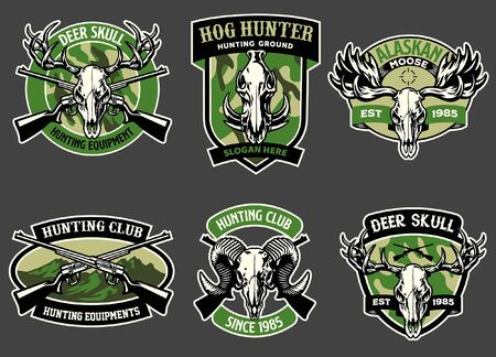 badge design set collection