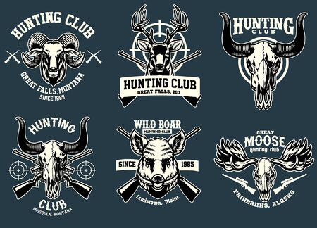 set of hunting badge design