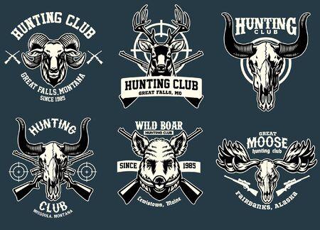set of hunting badge design