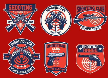 set bundle of shooting club badge