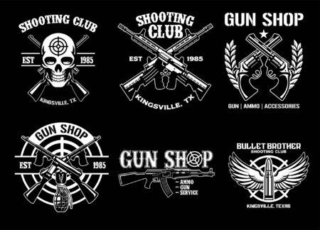 shooting club badge set bundle