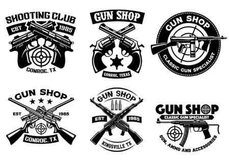 set badges of shooting club