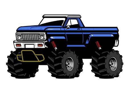 vector of big american big foot truck Illustration