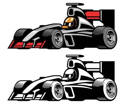 vintage set of formula car race