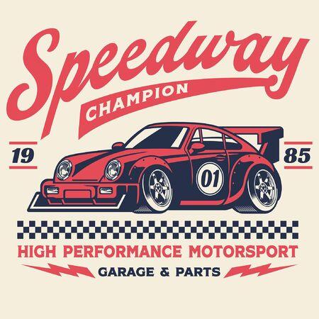vintage design of racing car