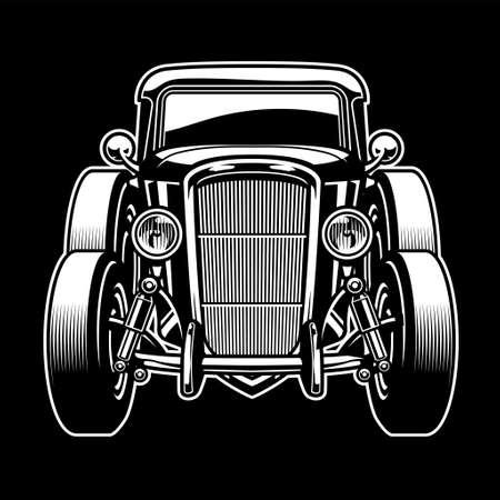 vector of vintage old ancient car Ilustração
