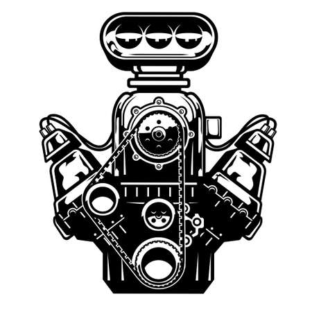 big muscle car engine