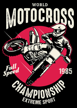 shirt design of motocross championship