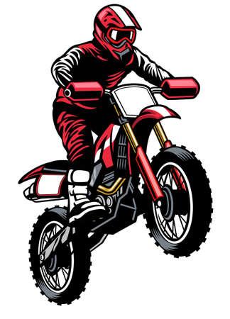 jumping rider riding the motocross Banco de Imagens - 153215791