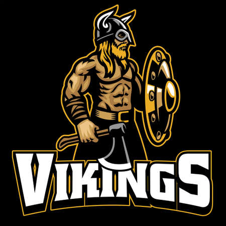 vector of mascot of viking warrior