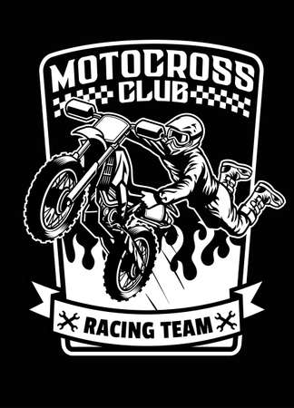 shirt design of racing motorcross sport