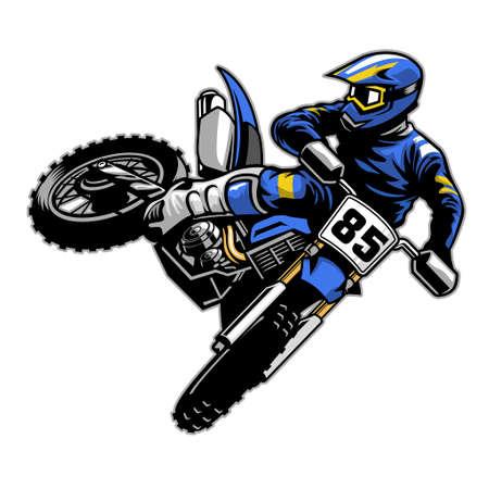 tail whipping motocross Ilustração