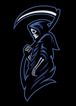 vector of mascot of dead grim reaper