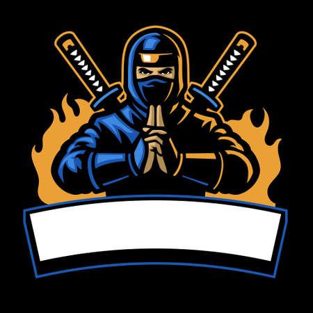 vector of ninja shinobi sport mascot