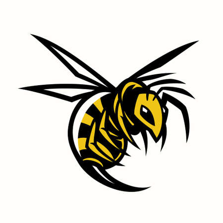 vector bee hornet wasp mascot 向量圖像