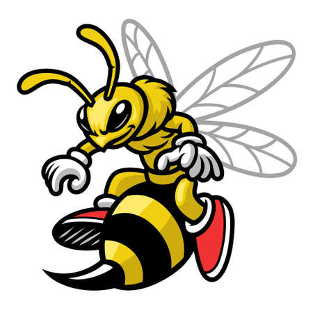 vector of mascot bee cartoon style 向量圖像