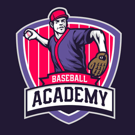 academy of baseball badge design