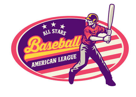vintage style of baseball design