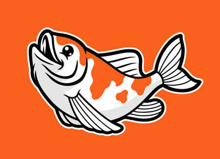 vector of cute kawaii koi fish