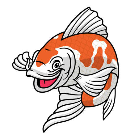koi fish cartoon character