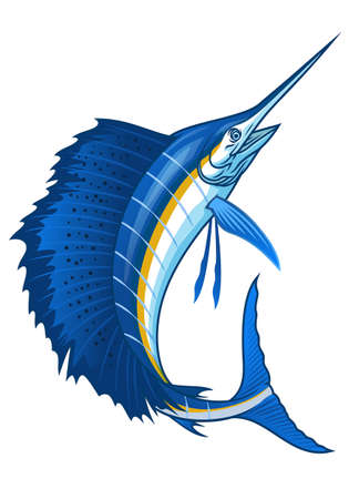 atlantic sailfish with big sail fin