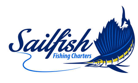 fishing marlin sailfish design 向量圖像