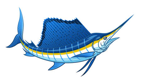 vector of blue atlantic sailfish 向量圖像