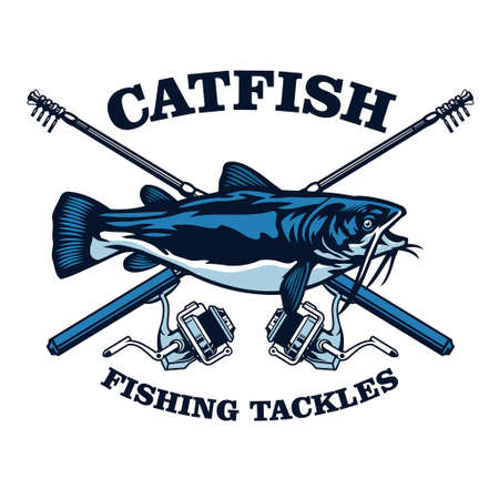 catfish fishing club badge design