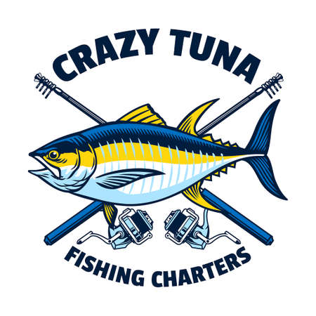 tuna fishing vintage design