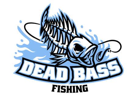 Bass fish skull mascot