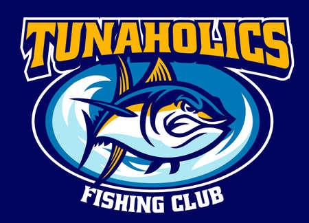 Tuna sport fishing club mascot Vettoriali
