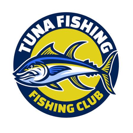 vector of yellowfin tuna sport fishing
