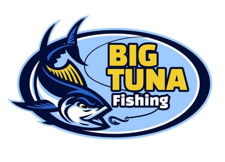 vector of tuna fishing club mascot