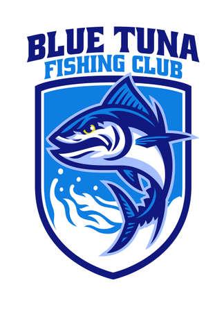 Tuna fishing mascot