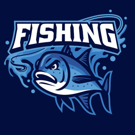 Mascot of fishing giant trevally