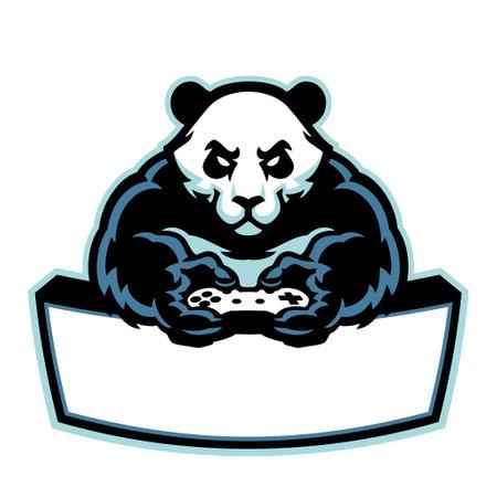 vector of panda mascot logo gaming e-sport 矢量图像