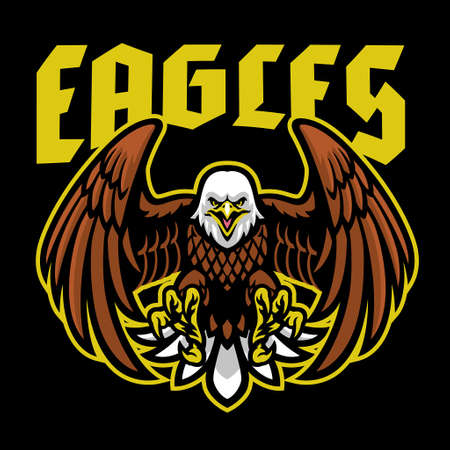 vector of bald eagle mascot sport logo 矢量图像