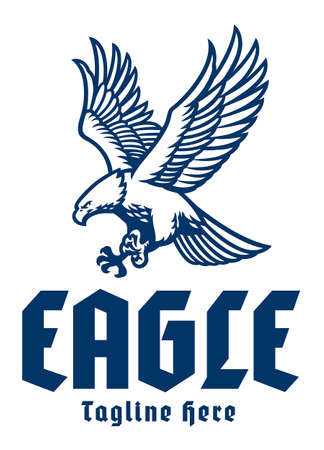 flying eagle mascot logo 矢量图像